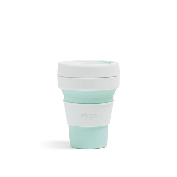 The Paper Bunny x Stojo Collapsible Cup Pocket 12oz/350ml (Mint)