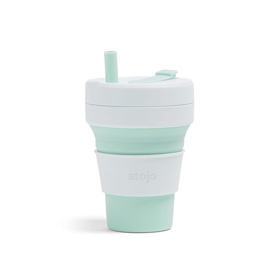 The Paper Bunny x Stojo Collapsible Cup Biggie 16oz/470ml (Mint)