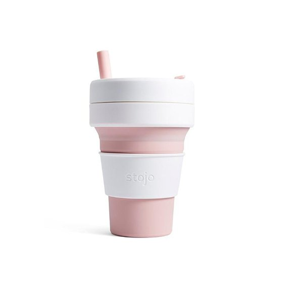The Paper Bunny x Stojo Collapsible Cup Biggie 16oz/470ml (Rose)