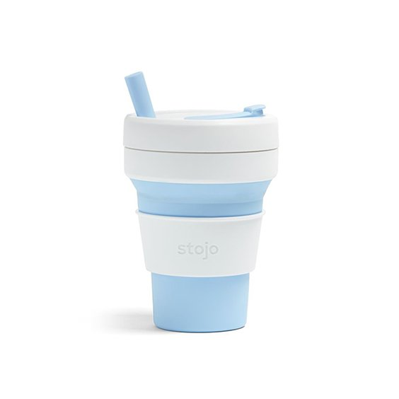 The Paper Bunny x Stojo Collapsible Cup Biggie 16oz/470ml (Sky)