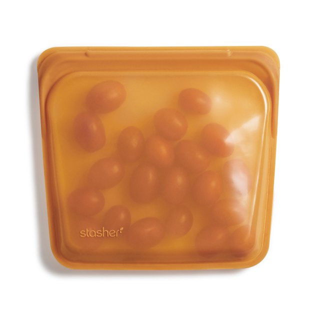 Stasher Reusable Silicone Sandwich Bag (Honey)