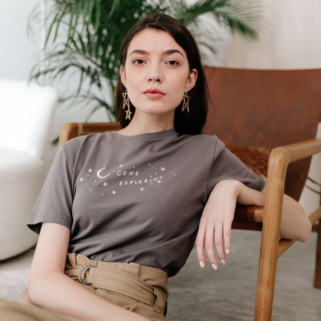 Gone Exploring Charcoal Tee