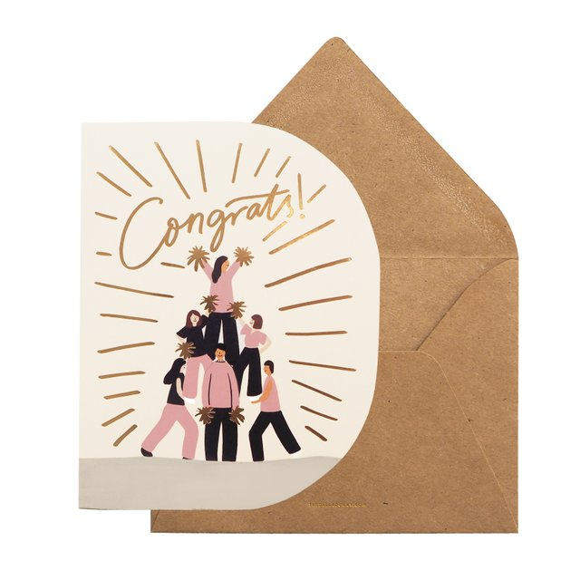 Congrats Cheerleader Greeting Card