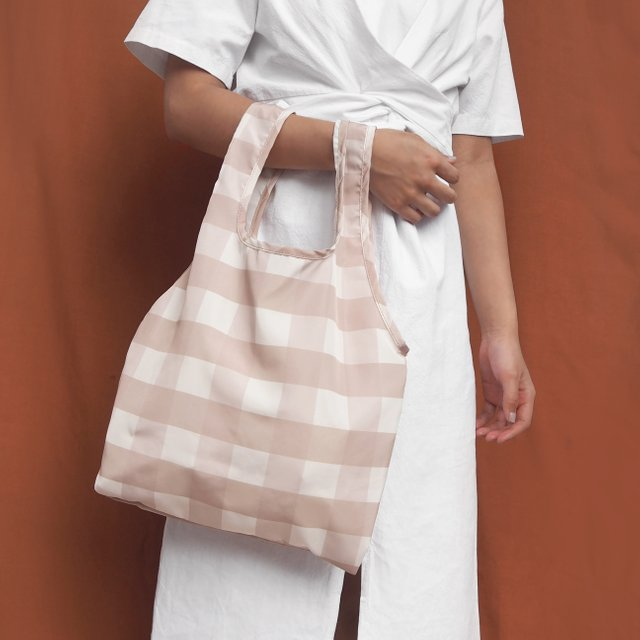 Ginger Gingham Reusable Bag