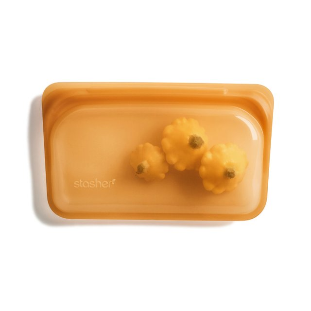 Stasher Reusable Silicone Snack Bag (Honey)