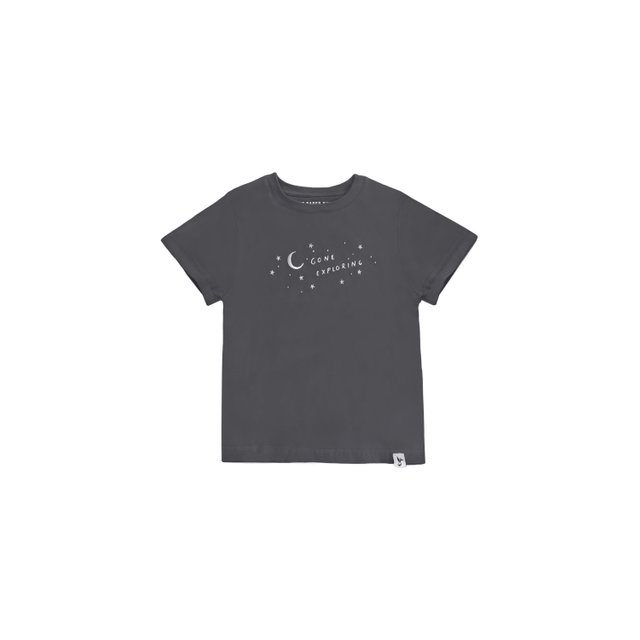 Gone Exploring Charcoal Kids Tee