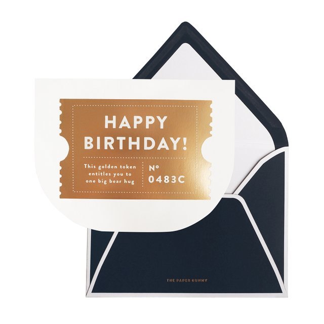Happy Birthday Golden Ticket Card