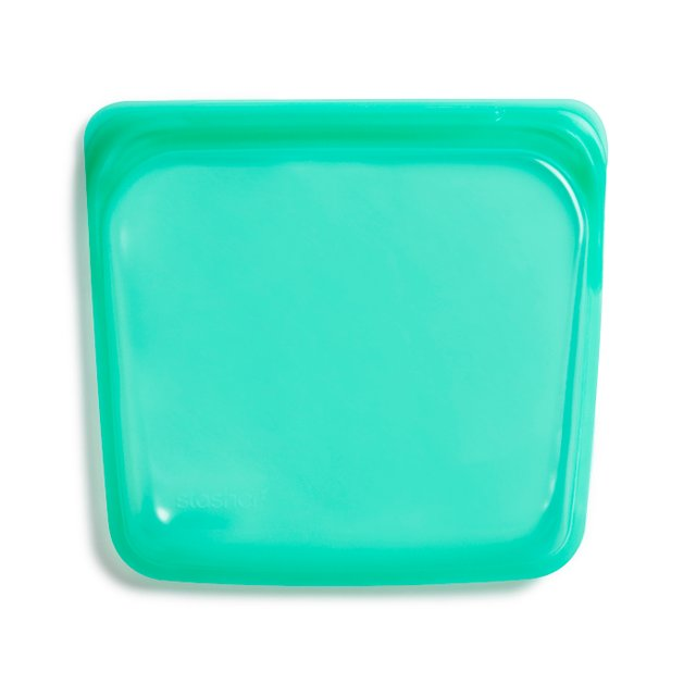 Stasher Reusable Silicone Sandwich Bag (Jade)